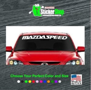 mazda speed windshield decal sticker