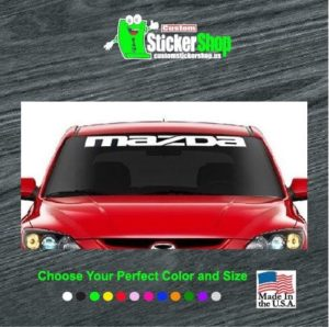 mazda win dshield decal banner sticker