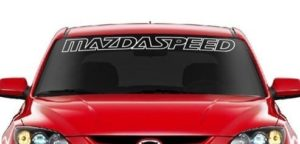 Mazda Speed II Windshield Decals - https://customstickershop.us/product-category/windshield-decals/