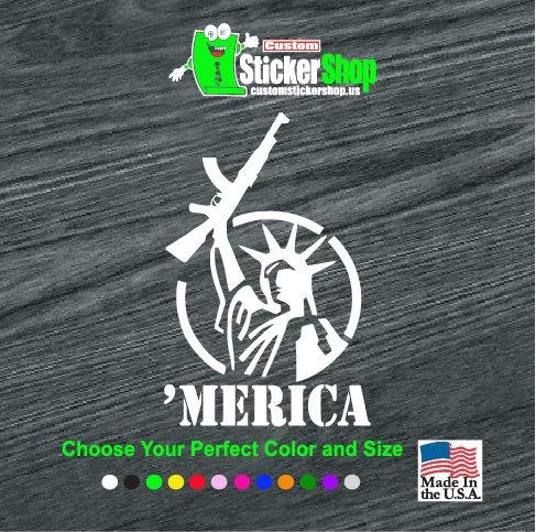merica lady liberty decal sticker