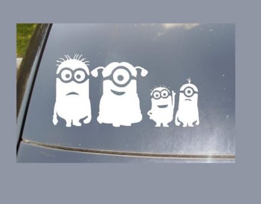 Minion Family Window Decal Sticker - https://customstickershop.us/product-category/stickers-for-cars/