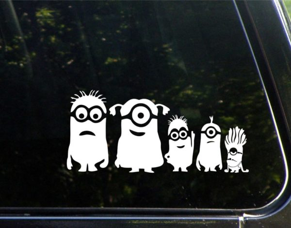 Minion family ii vinyl decal stickers for Window transfers