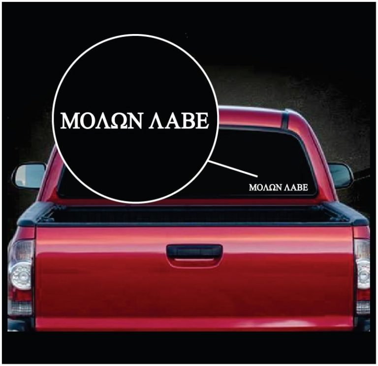 Molon labe come take them truck vinyl window decal sticker
