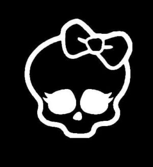 Monster High Skull Decal Sticker - https://customstickershop.us/product-category/stickers-for-cars/