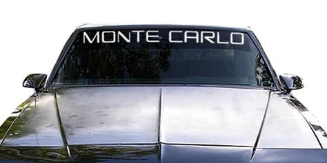 Monte Carlo Classic Windshield Decals - https://customstickershop.us/product-category/windshield-decals/