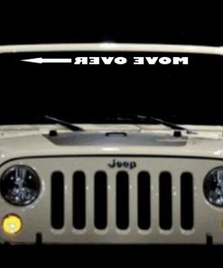 Move Over Jeep Windshield Decals - https://customstickershop.us/product-category/windshield-decals/