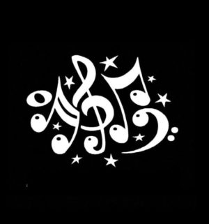 Music Notes Musical Decal Sticker - https://customstickershop.us/product-category/music-decals/