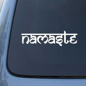 Namaste Window Decal Sticker - https://customstickershop.us/product-category/stickers-for-cars/