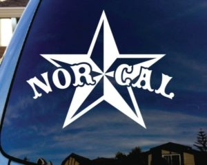 Nor Cal Star Window Decal Sticker - https://customstickershop.us/product-category/stickers-for-cars/