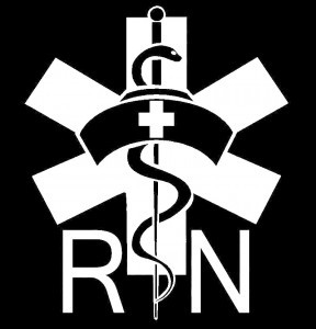 Nurse Caduceus RN Decal Sticker - https://customstickershop.us/product-category/career-occupation-decals/