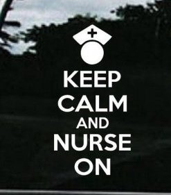 Keep Calm Nurse on RN LPN Decal - https://customstickershop.us/product-category/career-occupation-decals/