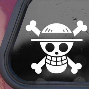 One Piece Luffy Jolly Roger Decal - https://customstickershop.us/product-category/stickers-for-cars/