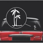 Palm Trees Window Decal Sticker