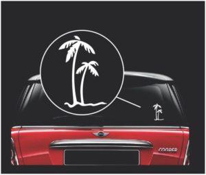 palm trees vinyl window decal sticker