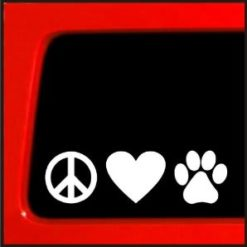 Peace Love Dogs Animal Stickers - https://customstickershop.us/product-category/animal-stickers/