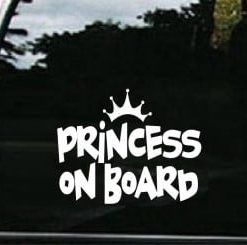 Princess On Board Decal Sticker - //customstickershop.us/product-category/western-decals/