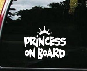 Princess On Board Decal Sticker - https://customstickershop.us/product-category/western-decals/