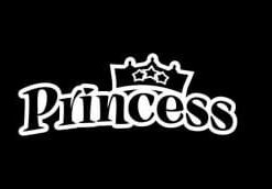 Princess Crown Decal Sticker - //customstickershop.us/product-category/western-decals/