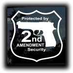 Protected by 2nd Amendment Window Decal Sticker