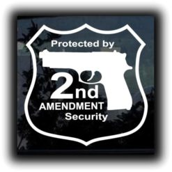 Protected by 2nd Amendment Decal