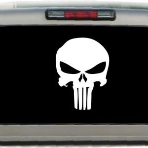 Punisher Skull Window Decal Sticker