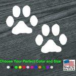 Puppy Paw Prints Dog Decal - Dog Stickers