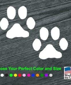 puppy paw prints decal sticker