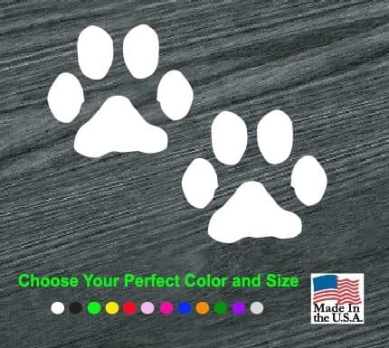 puppy paw prints decal sticker