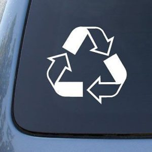 Recycle Logo Window Decal Sticker - https://customstickershop.us/product-category/stickers-for-cars/