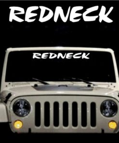Redneck Windshield Decals - https://customstickershop.us/product-category/windshield-decals/