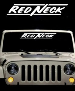 Redneck II Windshield Decals - https://customstickershop.us/product-category/windshield-decals/