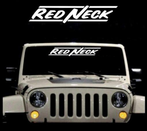 Redneck II Windshield Decals - https://customstickershop.us/product-category/windshield-decals/