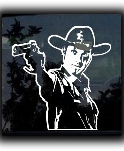 Walking Dead Rick Grimes Decal Sticker - //customstickershop.us/product-category/zombie-stickers/