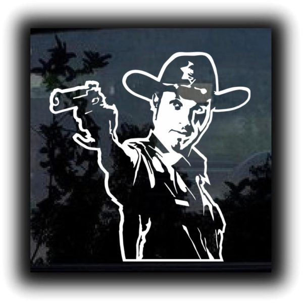 Walking Dead Rick Grimes Zombie Stickers – Custom Sticker ...