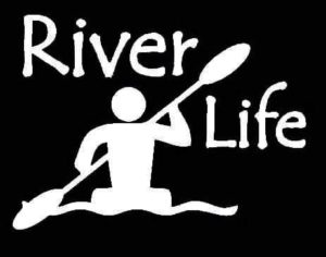 River Life Kayak Stickers For Cars - https://customstickershop.us/product-category/stickers-for-cars/