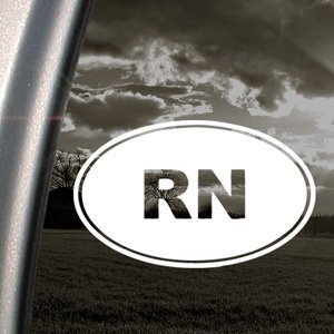 RN Oval Nurse Decal Sticker - https://customstickershop.us/product-category/career-occupation-decals/