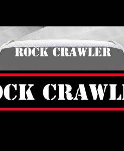 Rock Crawler Jeep Windshield Decals - https://customstickershop.us/product-category/windshield-decals/
