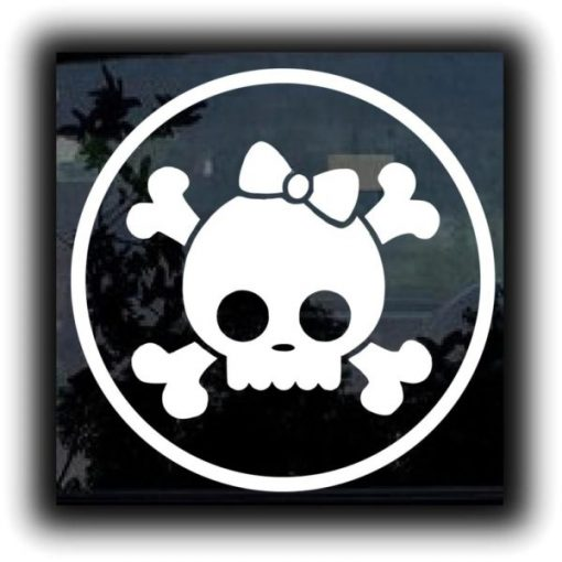 Roller Derby Skull Car Decal Sticker - https://customstickershop.us/product-category/stickers-for-cars/