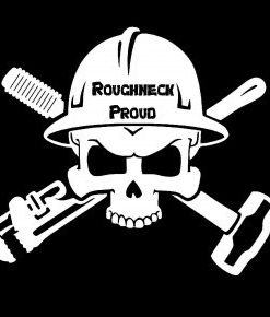 Roughneck Proud Skull Decal - //customstickershop.us/product-category/career-occupation-decals/