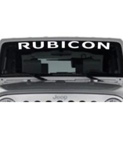 Jeep Rubicon Windshield Decals - https://customstickershop.us/product-category/windshield-decals/