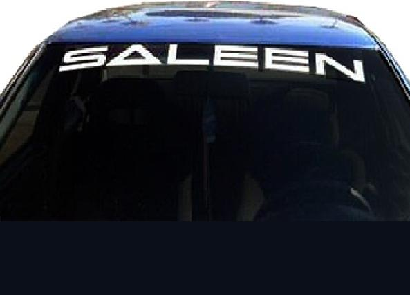 Vinyl Windshield Banner Decal Stickers Fits Saleen Mustang - Car windshield decals