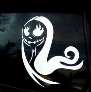 Sally Skellington Car Decal Sticker - https://customstickershop.us/product-category/stickers-for-cars/