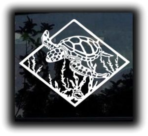 Sea Turtle Window Decal Sticker - https://customstickershop.us/product-category/stickers-for-cars/