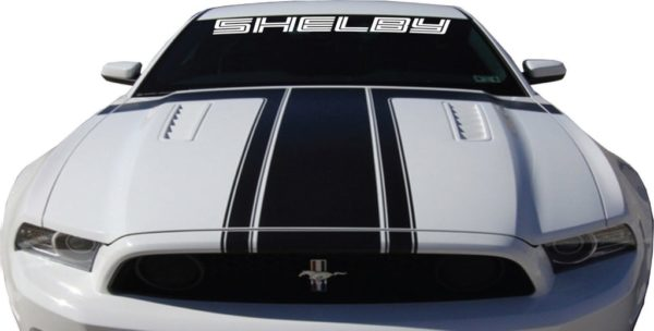 GT350 Premium Windshield Banner Vinyl Decal Sticker for Ford Shelby Mustang