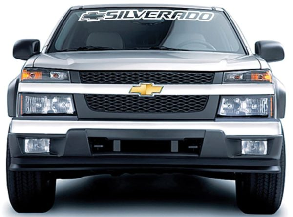 Chevy Silverado II Windshield Decals - https://customstickershop.us/product-category/windshield-decals/