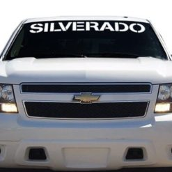 Chevy Silverado Windshield Decals - https://customstickershop.us/product-category/windshield-decals/