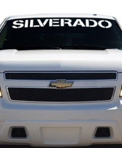 Chevy Silverado Windshield Decals - //customstickershop.us/product-category/windshield-decals/