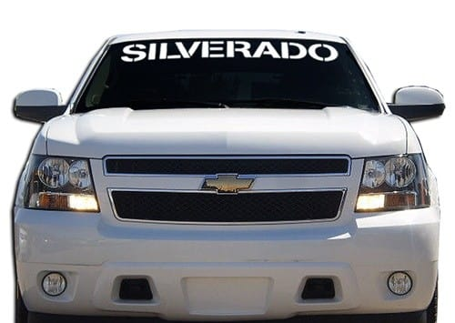 Vinyl Windshield Banner Decal Stickers Fits Chevy Silverado - Chevy silverado stickers