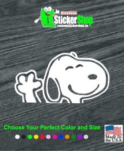 snoopy waiving decal stickers