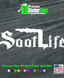 soot life diesel window decal sticker